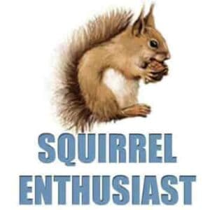 squirrel enthusiast home logo